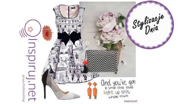 Stylizacje dnia z Inspiruj.net – Eleganckie biało-czarne sukienki na lato