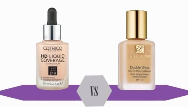 Bitwa na kosmetyki: podkłady Catrice HD 010 vs Este Lauder Double Wear