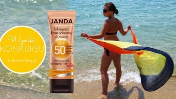 Wyniki konkursu: Cztery wymiary ochrony z kremem SPF 50 marki JANDA
