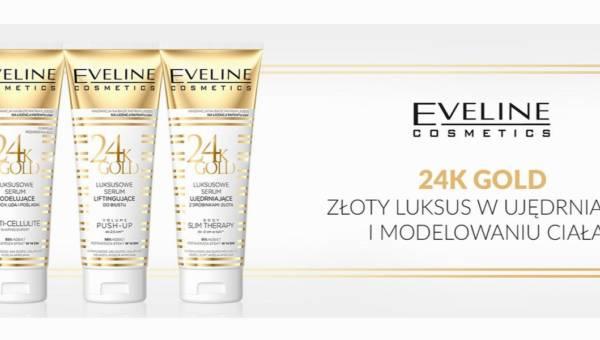 Kosmetyki Eveline Cosmetics z drobinkami złota