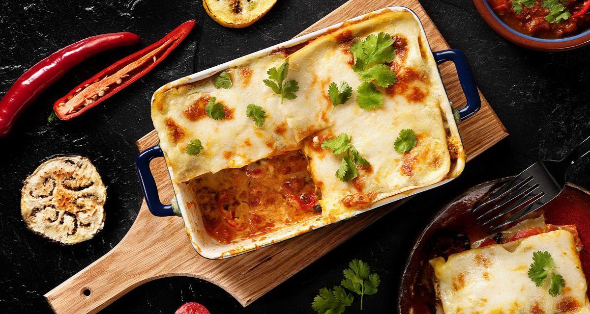 Lasagne z curry i mlekiem kokosowym