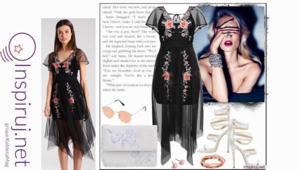 Stylizacje dnia z Inspiruj.net – Kuszące przezroczyste sukienki