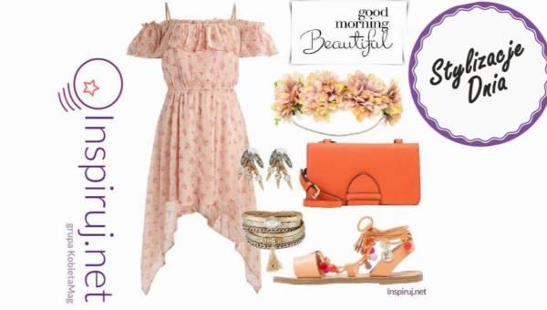 Modne stylizacje – romantyczne sukienki w pudrowym różu