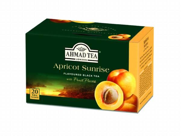 ahmad tea - apricot sunrise herbata czarna z morelą