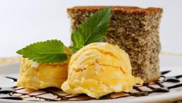 Przepis na ciasto imbirowe z sorbetem cytrynowym z dodatkiem herbaty