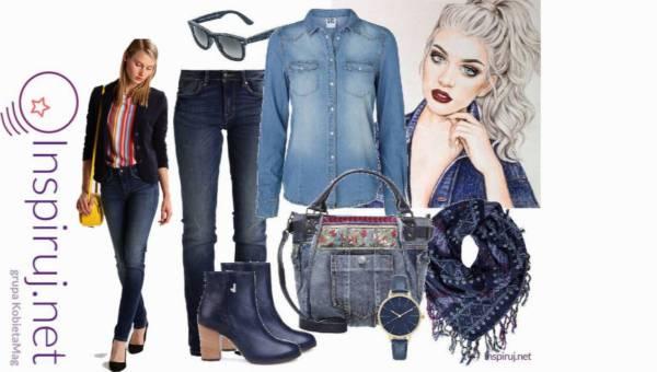 Modne stylizacje: Denimowy Total Look