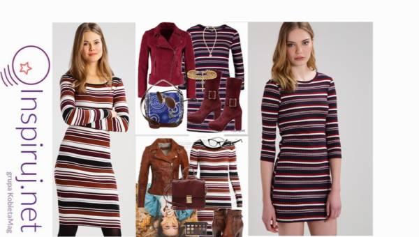 Stylizacje dnia z Inspiruj.net: Dzianinowa sukienka w paski – który kolor wybierasz?