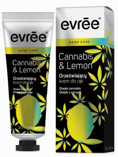evree - orzeźwiający krem do rąk z cannabis i cytryną