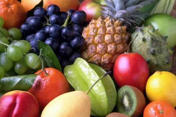 różnego rodzaju owoce