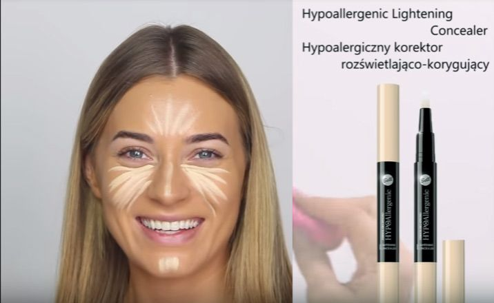 HYPOAllergenic Lightening Concealer - nakładanie przed smokey-eye