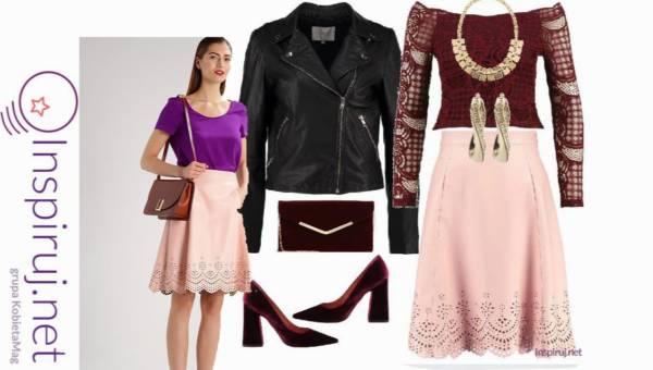 Modny outfit na wieczór – Koronkowa spódnica