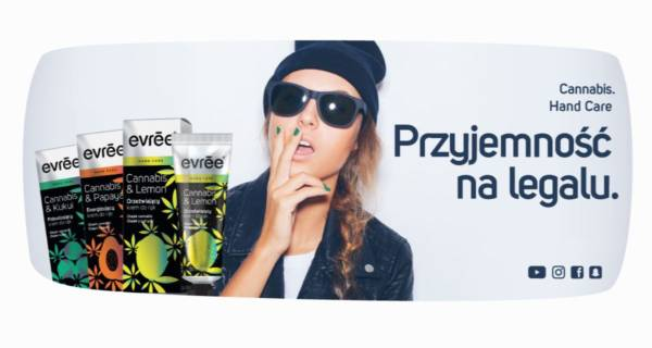 EVRĒE NA LEGALU - grafika reklamowa linii kosmetyków