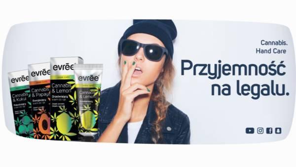EVRĒE NA LEGALU  – Kremy do rąk z olejkiem cannabis