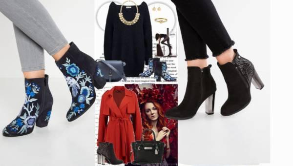 Inspiruj.net – Modne Stylizacje Dnia: Botki z haftem czy botki z nitami – co wybierasz