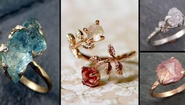 Nieoszlifowany diament. Modne pierścionki 2017 – na zaręczyny i nie tylko!