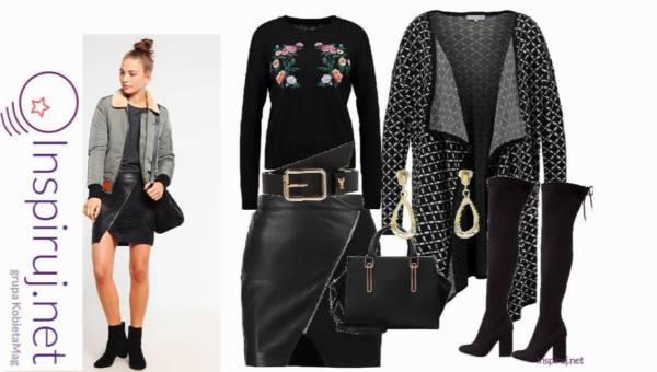 Stylizacje dnia: Pomysły na czarny total look w wersji casual