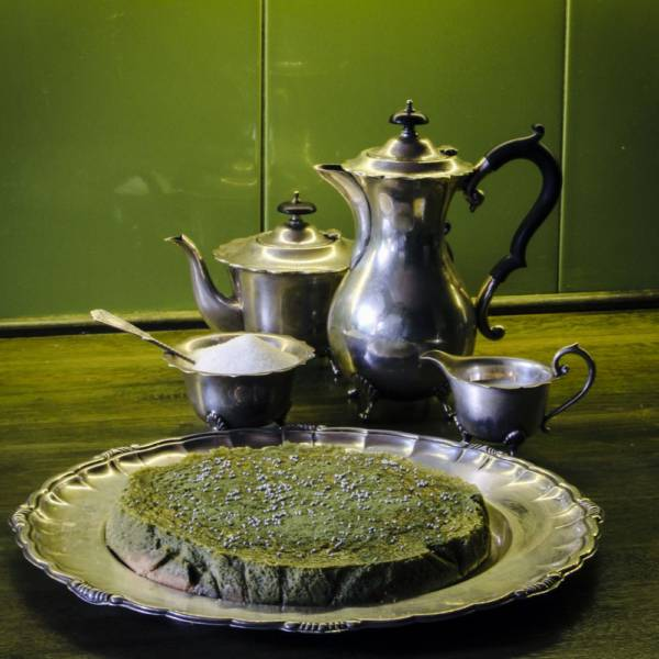 sernik z herbatą matcha