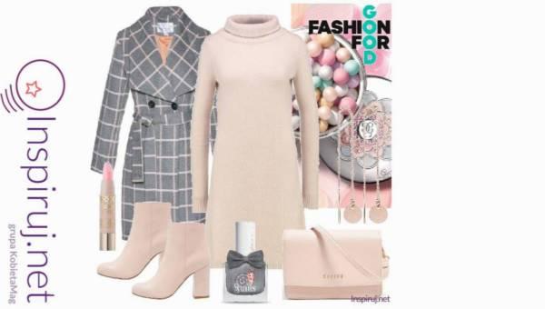 Modne outfity: Płaszcze w kratę na jesień