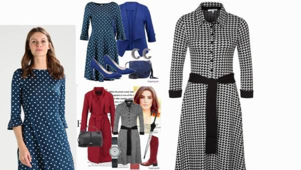 Inspiruj.net – Modne Stylizacje Dnia: Sukienka w grochy czy sukienka w kratkę?