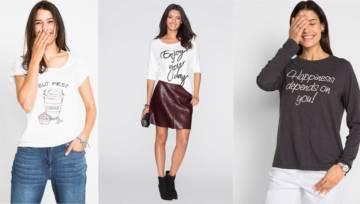 T-shirty bonprix ze sloganami – bądź sobą!