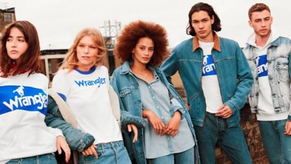 Kolekcja Wrangler White & Blue Logo