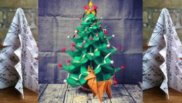 Choinka z papieru – 4 sposoby na proste i efektowne dekoracje świąteczne