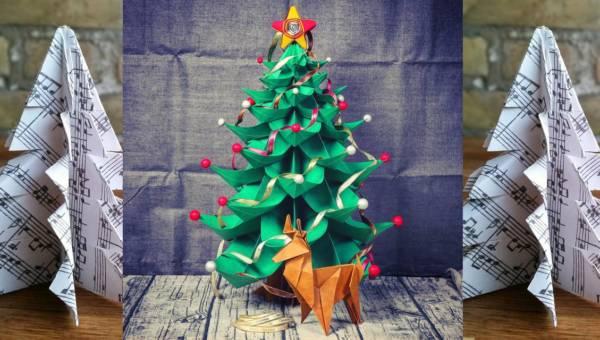 Choinka z papieru – dekoracja, która zachwyci Twoi gości!
