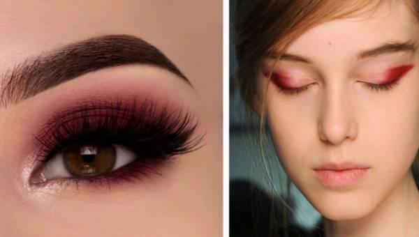 Nowy makijażowy trend na zimę – czerwony cień na powiekach!