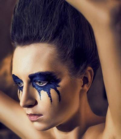makijaż oczu na Halloween
