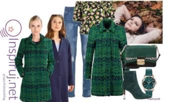Gotowe Zestawy: Ciepły wełniany płaszcz plus jeansy
