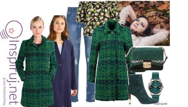Inspiruj.net – Modne Stylizacje Dnia: Ciepły wełniany płaszcz plus jeansy