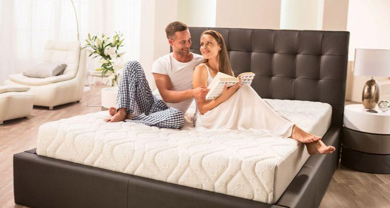 wygodny materac w sypialni