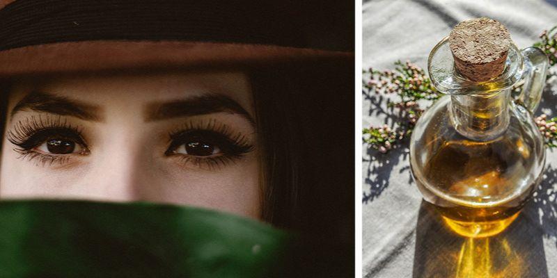 Olejek rycynowy na rzęsy _ kobieta z pięknymi rzęsami