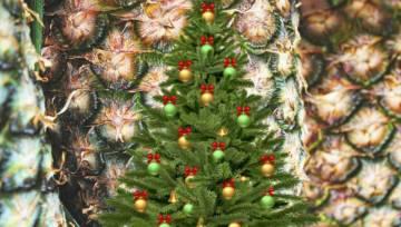 Choinka z ananasa – poczuj hawajski luz na Święta!