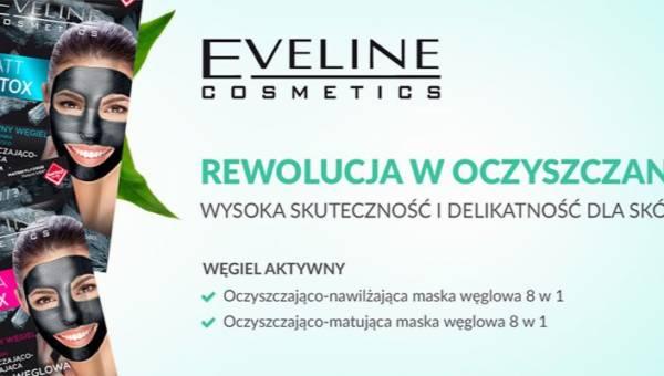 Maseczki Eveline z aktywnym węglem z serii Facemed+