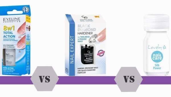 Bitwa na kosmetyki – odżywki do paznokci: Eveline 8w1, Golden Rose Black Diamond czy Lovely?