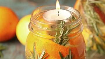 Ozdoby świąteczne ze skórki pomarańczy