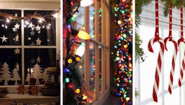 Świąteczne dekoracje okien: DIY