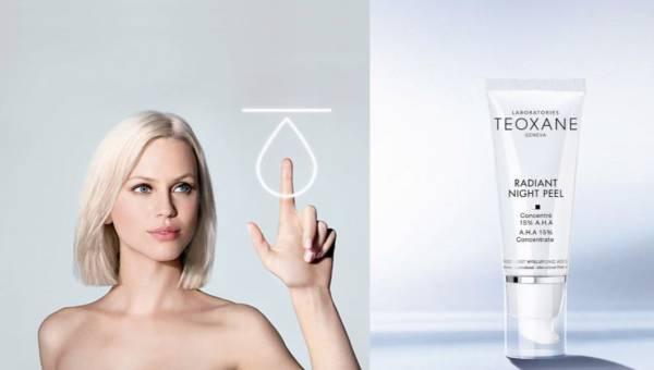 Terapia odnawiająca skórę: Teoxane, Radiant Night Peel (15% AHA)
