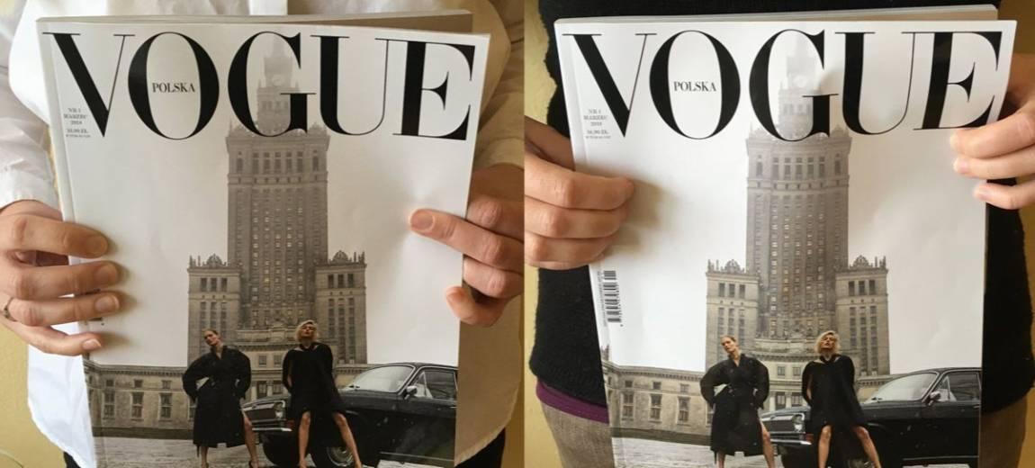 """Okładka polskiego """"Vo(ł)gue'a"""" w czerni, szarości i smogu – co o niej sądzicie?"""