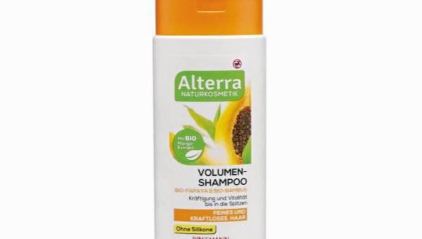 Alterra, szampon do włosów dodający objętości Papaja i Bambus