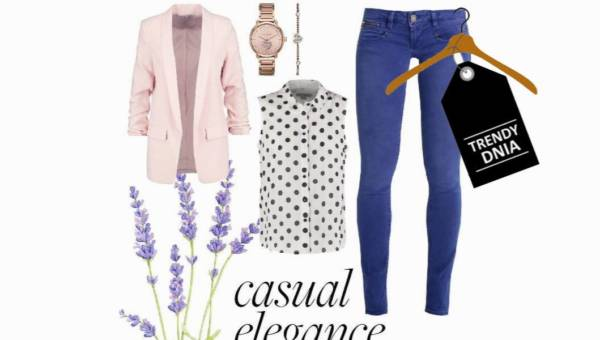 Groszki i róże – radosna stylizacja na poniedziałek