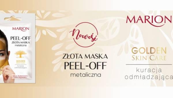 Nowość od Marion: złota maska metaliczna peel-off