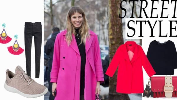 Street Style – zoom na wiosenny kolorowy płaszcz podczas Paris Fashion Week 2018