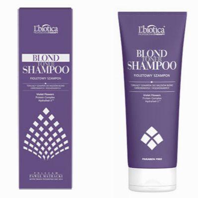 L'biotica, Blond Toner Shampoo – Tonujący, fioletowy szampon do włosów blond