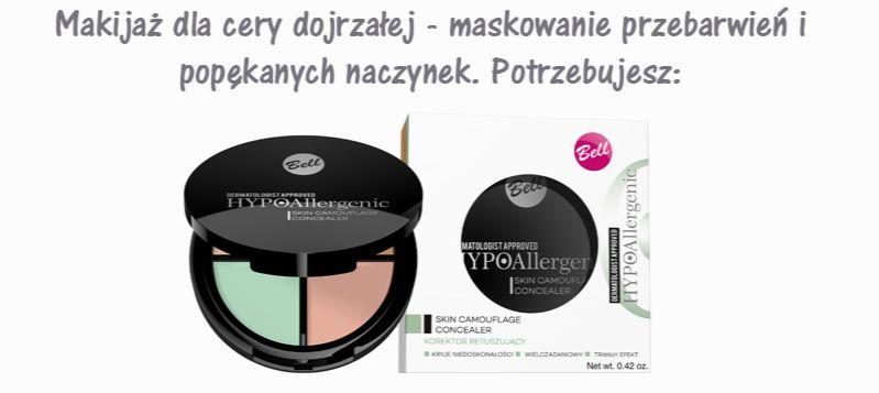 makijaż odmładzający kosmetyki maskowanie przebarwień i popękanych naczynek