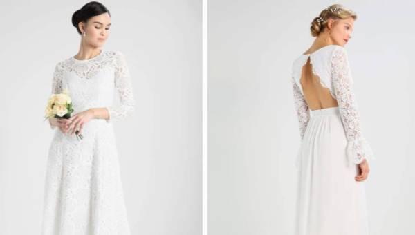 Suknie ślubne z długim rękawem: inspiracje i propozycje z sieciówek