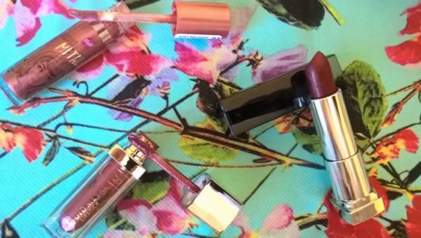 Kosmetyki z Biedronki vs kosmetyki z Rossmanna: ciemne metaliczne pomadki na wiosnę