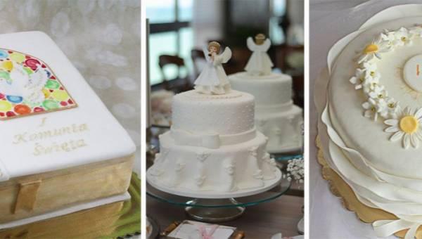 Tort komunijny dla dziewczynki lub chłopca: inspiracje
