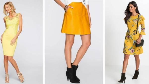 Stylizacje w słonecznym klimacie – żółte ubrania od Bonprix.pl